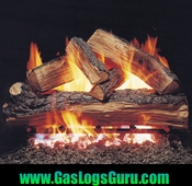 "Split Oak 18"" Designer Vented Logs w/ G4 Burner"