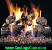 "See Thru Charred Oak 18"" Vented Logs w/ G4 See Thru Burner"