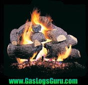 "See Thru Charred Royal English Oak 18"", 24"", 30"", 36"", 42"" Vented Logs w/G4 See Thru Burner"
