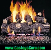"Golden Oak Designer Plus 18"" Vented Logs w/G4 Burner"