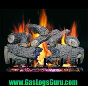 "Charred Forest Oak 18"" Vented Logs w/G4 Burner"