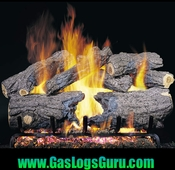 "Burnt Heritage Oak 18"" Logs w/G4 Burners"