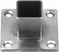 <strong>Square Long Neck Floor Flange for Stainless Steel Deck Rail Systems</strong>