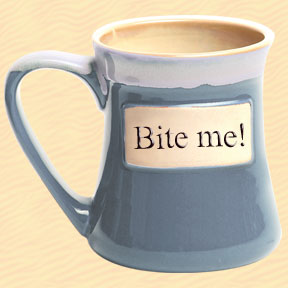 Bite Me! Tumbleweed Classic Word Oversized Coffee Mug