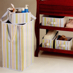 Ore Organization Essentials Aden Stripe Small and Large Storage Boxes