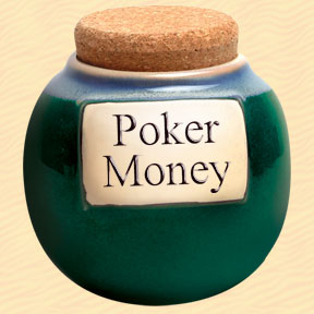 Tumbleweed Poker Money Classic Word Jar