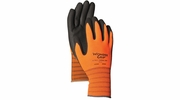 Wonder Grip WG520  Thermal Fleece Lined High Visibility Nitrile Palm Gloves - Large