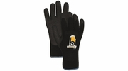 Bellingham C4005BK Black Heavy Duty Thermal Knit Gloves with Rubber Palm - Large