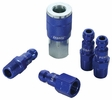 "Legacy A72456C  5 Piece ColorConnex Blue Type C Automotive 1/4"" Body x 1/4"" Quick Disconnect Coupler and Plug Kit (C1,CP1,CP2)"
