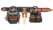 "Custom Leathercraft 51452  27 Pocket 4 Piece Top-Of-The-Line Pro-Framer's Combo System sizes (29"" - 46"")"