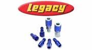 "Legacy ColorConnex Blue Type C Automotive 1/4"" Body Quick-Disconnect Coupler and Plugs"