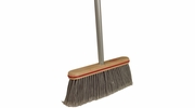 "Harper Brush 10804A  12"" Smooth Surface Upright Broom w/Handle - Gray"