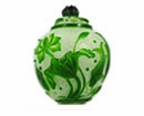 Lotus & Fish Lidded Jar