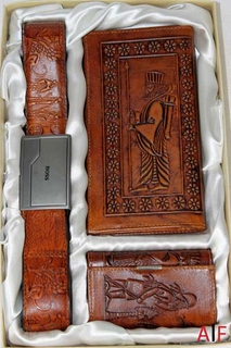 Wallet & Belt Leather Set