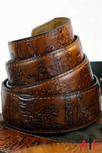 Belt Leather Engreaved