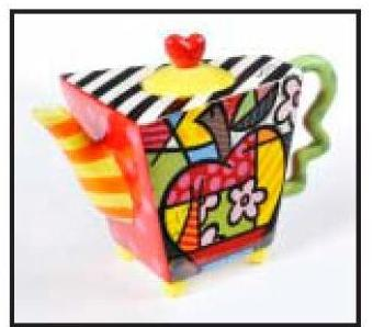 Apple Teapot by Romero Britto