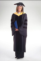 Doctoral Premium Cap Gown and Hood