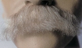 BMG25 <br>Fake Mustache <br>Classic Style <br>100% Human Hair <br>Glue On