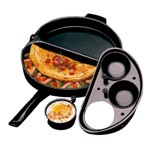 NordicWare Egg Poacher & Omelet Divided Skillet
