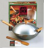 Joyce Chen 4-Pc Flat Bottom Wok Set: Carbon Steel