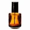 Amber Glass Nail Polish Bottle .50 oz.