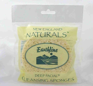 New England Naturals Deep Facial Cleansing Sponges 2 Pack