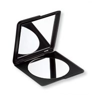 Squared Double Mirror Compact, Black
