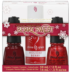 China Glaze Berry Sweet Nail Polish Holiday Gift Set