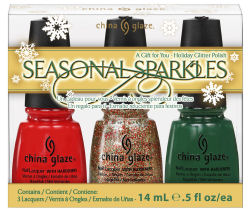 China Glaze Seasonal Sparkles Nail Polish Holiday Gift Set