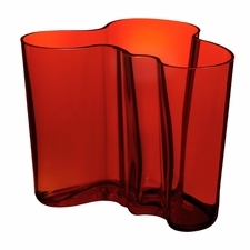 Iittala Aalto Flaming Red Vases - Click to enlarge