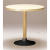 Artek Alvar Aalto - Large Pedestal Table P90B  - Black Base