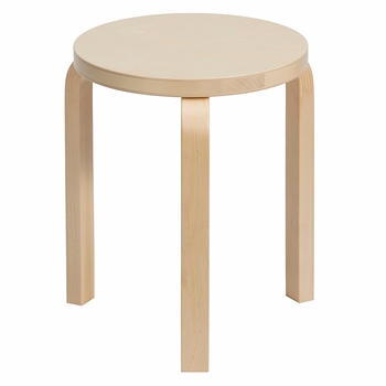 Artek Alvar Aalto Stool 60 - Three-Legged - Birch Veneer - Click to enlarge