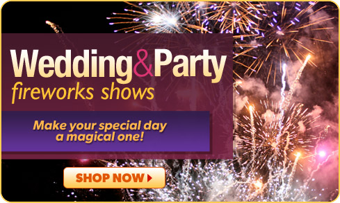 Wedding & Party fireworks shows canada
