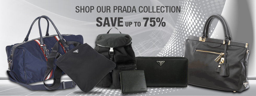 shop our prada collection save up to 75%