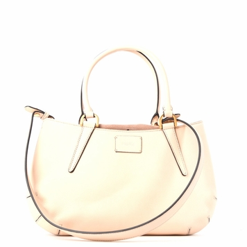Fendi 'B Fab' Leather and Suede Handbag - Beige
