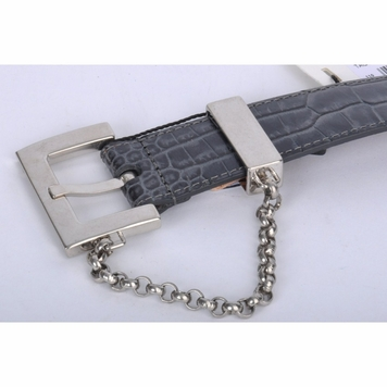 Dolce & Gabbana Croco Leather Belt Gray