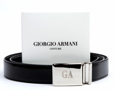 Giorgio Armani Calf Leather Reversible Belt - GA1310