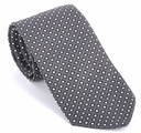 Prada Geometric Silk Tie - Gray