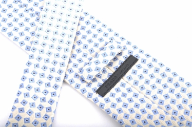 Prada Geometric Silk Tie - White
