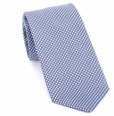 Prada Geometric Textured Silk Tie - Blue