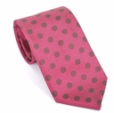 Prada Polka Dot Silk Tie - Red