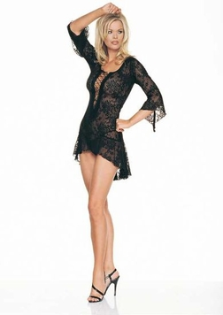Leg Avenue 2 Piece Spanish Lace Mini Dress and G-string Set