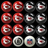 Kansas City Chiefs Pool Balls, Billiard Balls