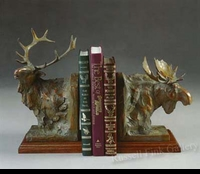 MOOSE:  TROPHY BOOKENDS</a><br><b>- SOLD</b>