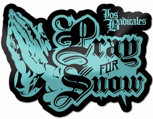 LB Pray For Snow Sticker