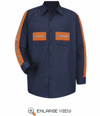 SP14ON Long Sleeve Enhanced Visibility Navy Shirt