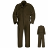 CT10BN Brown Twill Action Back Coverall