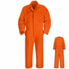 CT10OR Orange Twill  Action Back Coveralls