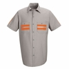 SP24WM Short Sleeve Enhanced Light Grey Visibility Shirt