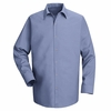 SP16LB Long Sleeve Men's Light Blue Specialized Pocketless Shirt